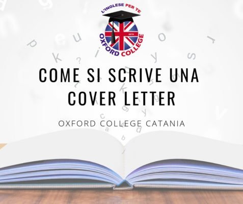 Come si scrive una cover letter in Inglese?