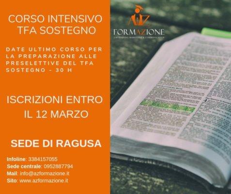 TFA Sostegno – nuovo corso in partenza a Ragusa