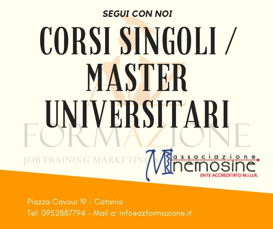 Corsi singoli e Master Universitati