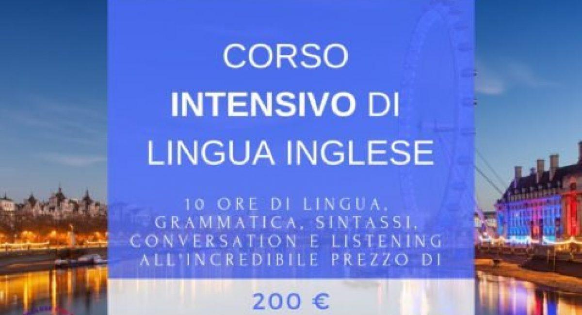 CORSO INTENSIVO DI LINGUA INGLESE