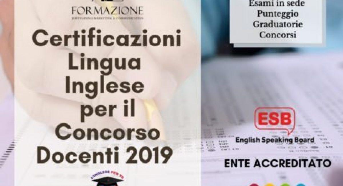 Certificazioni Lingua Inglese per il Concorso Docenti 2019 nuovo(1)