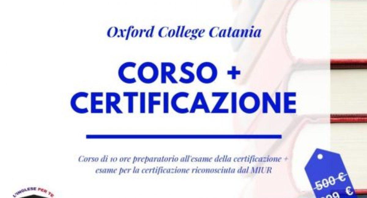 corso e certificazione inglese